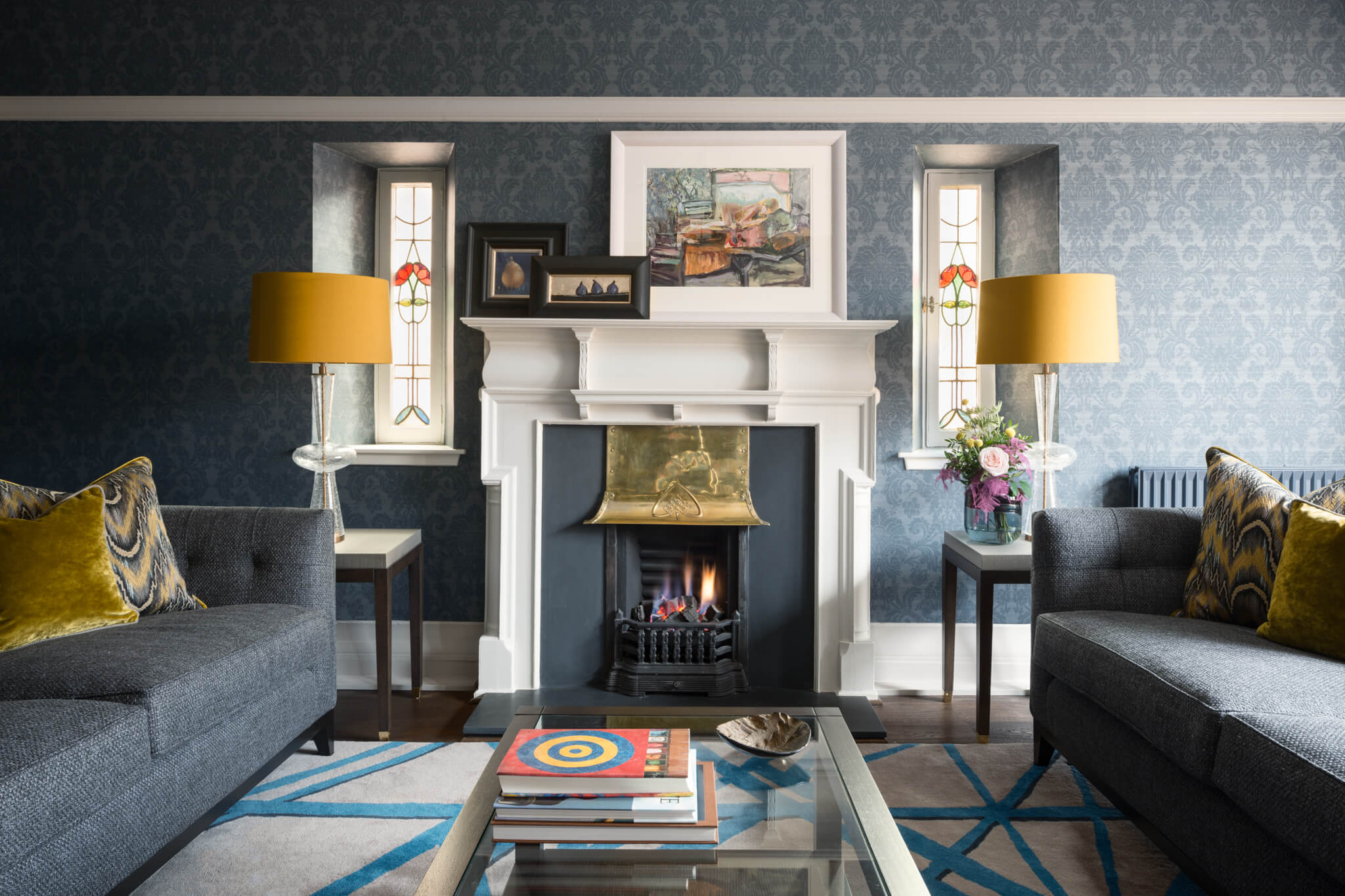 Print-Drawing-Room-Onepoint-Fireplace-Chelsea-Mclaine-Interiors-Introductory-Shoot-©ZACandZAC