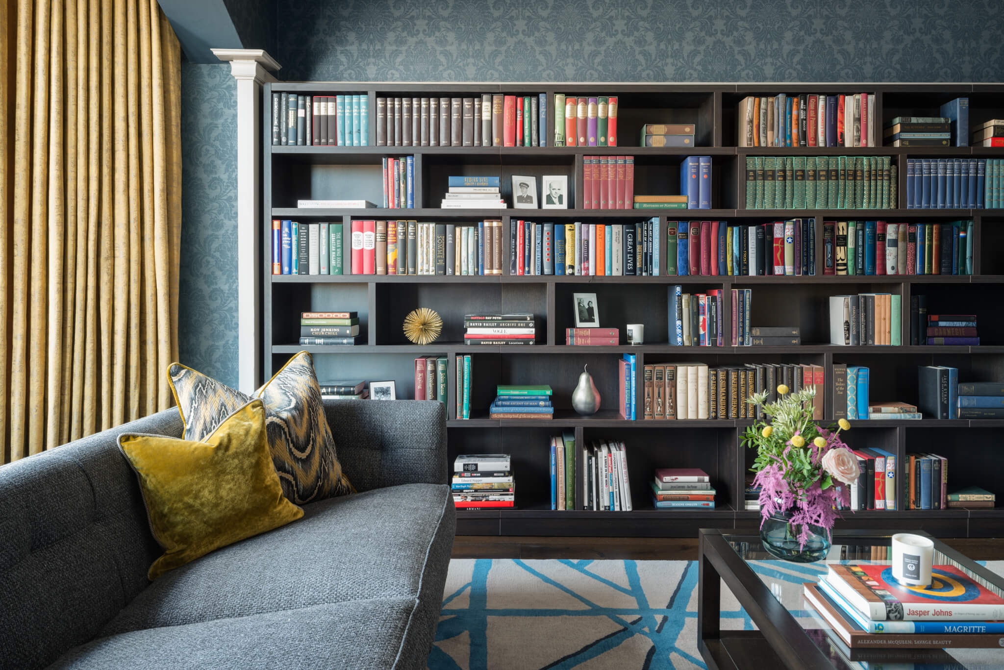 Print-Drawing-Room-To-Bookcase-Chelsea-Mclaine-Interiors-Introductory-Shoot-©ZACandZAC